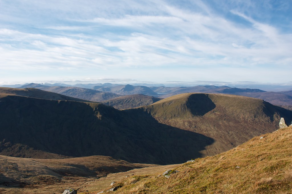 Looking across Meall a' Choire Leith