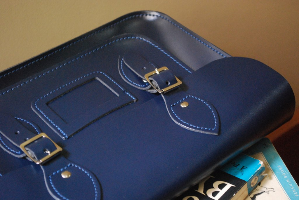 Leather Satchel Company loch blue a plus b in the sea old school leather satchel review