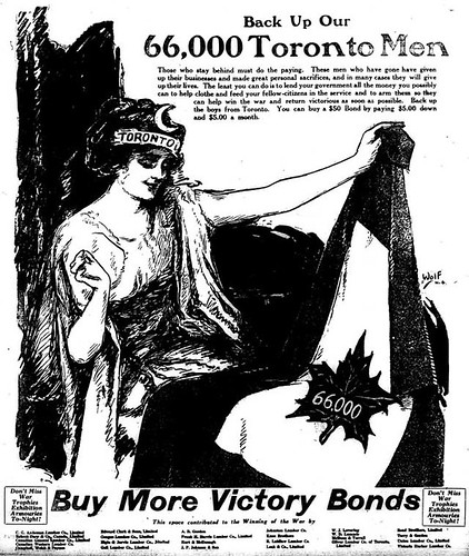 Vintage Ad #1,735: Toronto Sews a Flag for Victory