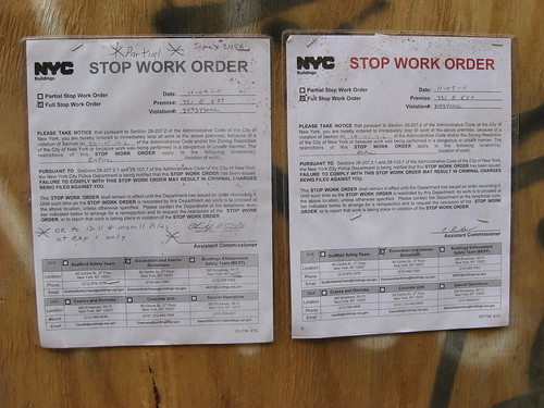 331 East Sixth Stop Work Order