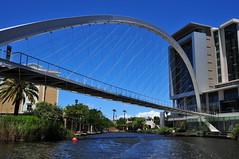 Arched Bridge (Bradclin Photography) Tags: archedbridge pedestrianwalkway bridgeovercanal centurycitycapetownsouthafrica