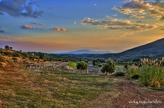 Stadium (  ) (Vicky Tsavdaridou) Tags: travel blue trees sunset vacation sky cloud tree green architecture clouds photoshop canon landscape geotagged photography countryside photo interesting ancient europe day hellas places explore greece hdr hellenic photomatix  messini