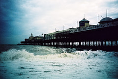 poor old hastings pier (lomokev) Tags: sea water pier lomo lca lomography lomolca hastings rough lomograph roughsea hastingspier deletetag roll:name=091127lcaxpro file:name=091127lcaxpro151 shotonhotshots