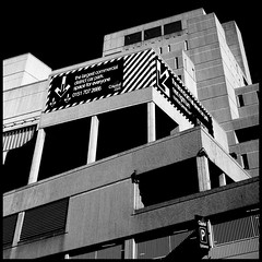 space for everyone (fotobananas) Tags: urban blackandwhite architecture liverpool pen concrete sunday saturday olympus carpark cliche ep1 sliders hss hcs fotobananas