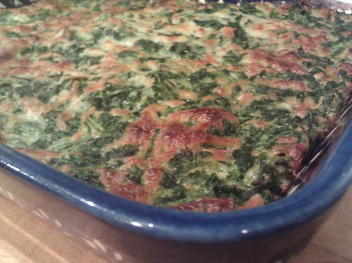 Spinach squares for the Thanksgiving potluck we're going to tonight