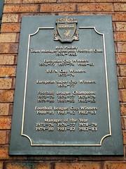 Photo of Bob Paisley black plaque