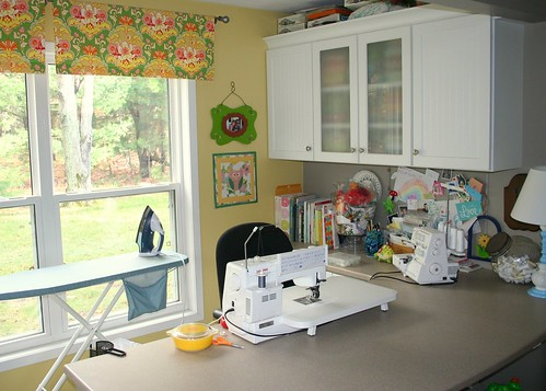 my sewing area - to the right