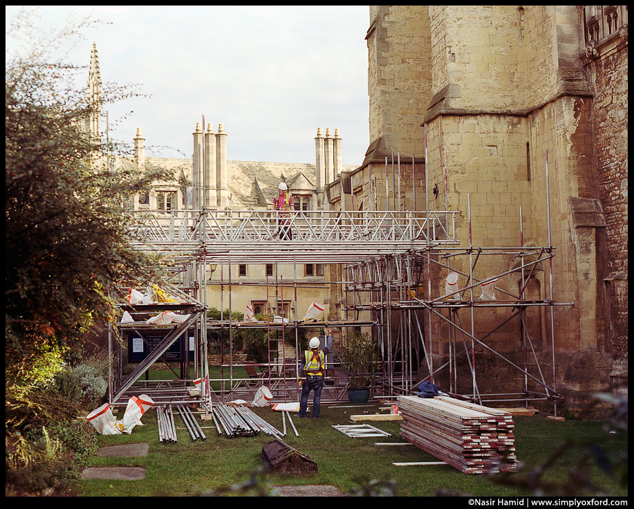 Building work at St. Mary's Tower