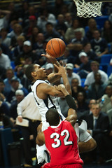 That's a Foul (acaben) Tags: basketball pennstate foul layup collegebasketball ncaabasketball psubasketball pennstatebasketball cameronwoodyard