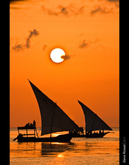 Sails of Zanzibar (Steve Rosset) Tags: ocean africa travel sunset sea people orange sun seascape lines silhouette june reflections geotagged tanzania boats island wooden paradise sailing glow escape african vibrant traditional horizon sails lifestyle peaceful adventure exotic tropical glowing local zanzibar magical tranquil 2011 steverosset geoafrica