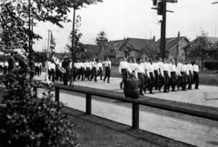 Army cadets from Lord Byng marching west on 16th