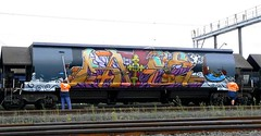 Train Graffiti Haterz (CAPITAL Q SDK) Tags: train graffiti buff haters wholecar fr8