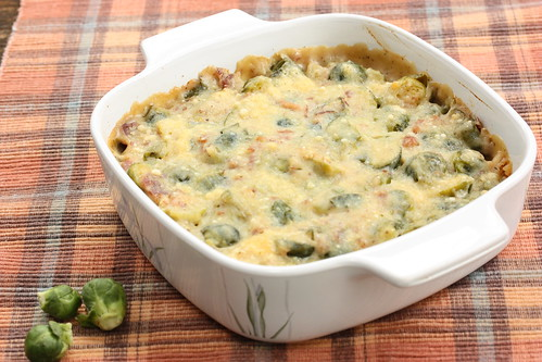Brussels Sprouts Gratin via MealMakeoverMoms.com/kitchen #makeover #holiday #casserole #sidedish
