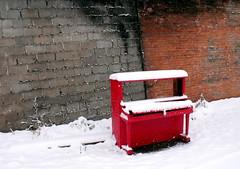 the red piano (dmixo6) Tags: trees winter sky snow canada muskoka dugg dmixo6