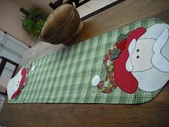 Esperando o Natal (nanarteira) Tags: natal noel fuxico toalha patch tecido