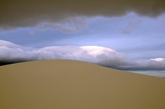 Dune With Clouds (goingslo) Tags: cloud newmexico dune whitesandsnationalmonument lindatanner itsinmynaturephotography
