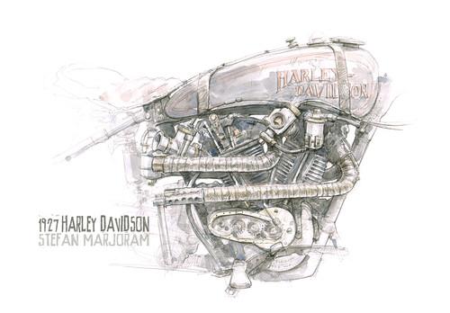 1927 Harley Davidson JD by Stefan Marjoram