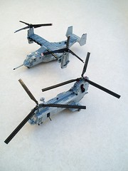 MV-22B Osprey size comparison (1) (Mad physicist) Tags: usmc lego osprey v22 tiltrotor seaknight ch46e mv22b