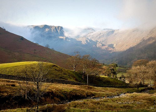 Cloud clearing off of Dove Crag