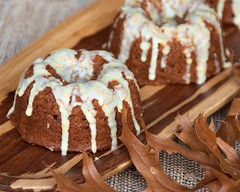 Applesauce Gingerbread Baby Cakes w/Orange Glaze