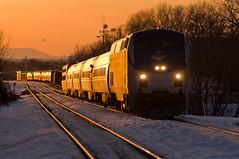 10-639 (George Hamlin) Tags: railroad sunset mountain snow train virginia photo cardinal amtrak manassas locomotive passenger decor norfolksouthern amtk50
