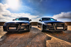 Twins (neimon2 (too busy, sorry for my temporary silence)) Tags: car twins sanmarino republic cd audi hdr repubblica repubblicadisanmarino neimon2 k1707 k1708