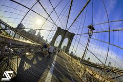 Catch the sun (A.G. Photographe) Tags: nyc bridge usa fish ny newyork france brooklyn america us nikon manhattan fisheye ag brooklynbridge eastriver nikkor français hdr anto photographe xiii amérique 16mmfisheye d700 antoxiii hdr9raw agphotographe