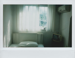 Another brand new day ((_)...) Tags: light white film window fuji room wide instantcamera instax 210