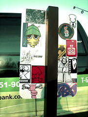 (Under Water Pirates / UWP - *SB *33 *VII) Tags: street streetart art chicken water sign sticker underwater please 33 pirates sticky dick under collab sloth ens flush sb rwk vii bandits khoi eltoro combo lobes uwp pleaseflush underwaterpirates mikedie stickybandits dickchicken eyeneversleep gonebroke