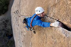 alex, that .10d at split rocks (marshallburke) Tags: joshuatree climbing rockclimbing