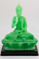 5. Resin Guanyin on Lotus Base