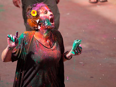 Holi New Delhi 2012 (Simon M Turner) Tags: new india color colour festival paint delhi multicoloured celebration holi 2012