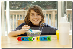Lunchtime (Lisa-S) Tags: portrait ontario canada word milk eating lisas letters lunchtime brampton trystan 3067 gappool gicno copyright2012lisastokes gap20120508