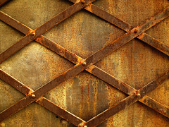 Rusty Ujack (decar66) Tags: old texture window metal wall bronze vintage jack gold rust gate iron background steel union entrance rusty surface textures creativecommons copper ironwork fondo deteriorated metalic barbera ujack t4lagree salvabarbera
