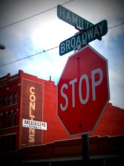 Stop at Hamilton and Broadway (BlackAndBlueBeauty) Tags: old sign montana butte hamilton broadway advertisement uptown stop