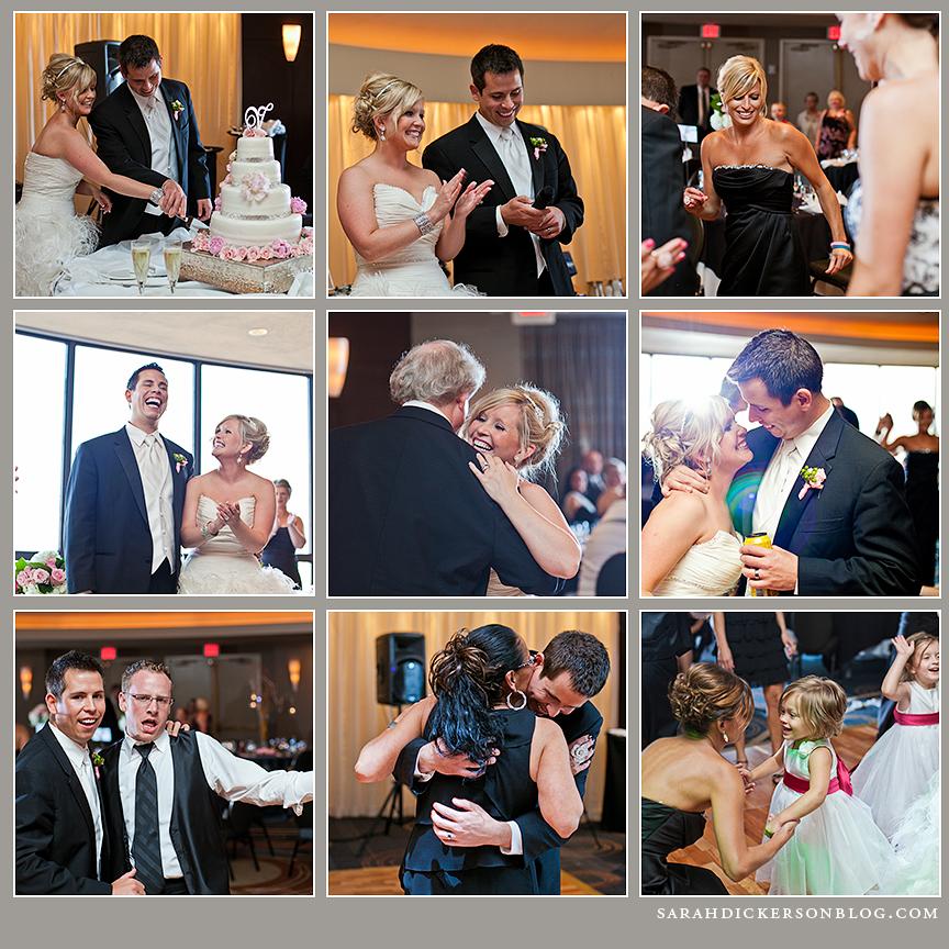 Crowne Plaza Kansas City wedding reception photography