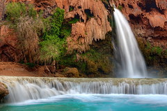 Havasu colors (Chief Bwana) Tags: arizona waterfall 100views 400views 300views 200views 500views supai havasupai havasufalls havasupaicanyon bluegreenwater psa104 chiefbwana