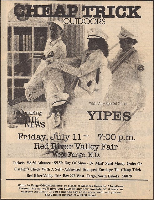 07/11/80 Cheap Trick/The News/Yipes @ Red River Valley Fair, West Fargo, ND