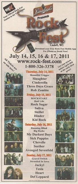 07/14 - 17/11 RockFest 2011 @ Cadott, WI