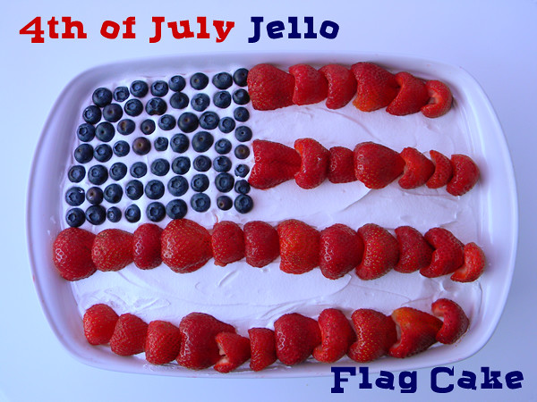 Jello Flag Cake