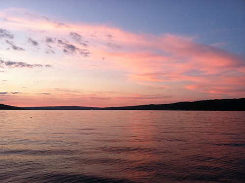 Sunset over Cayuga Lake