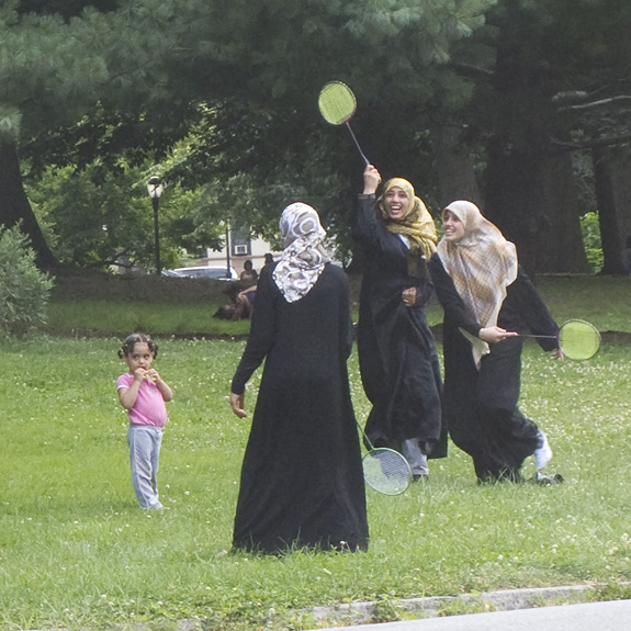 Badminton in burqas