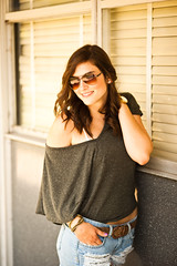 Adriana (Grant Daniels) Tags: blue portrait color reflection fashion canon happy 50mm glasses michael belt am top grant dorm 14 watch adriana lifestyle nelson laugh bracelet daniels 5d joyful aviator markii kors keans bely koors
