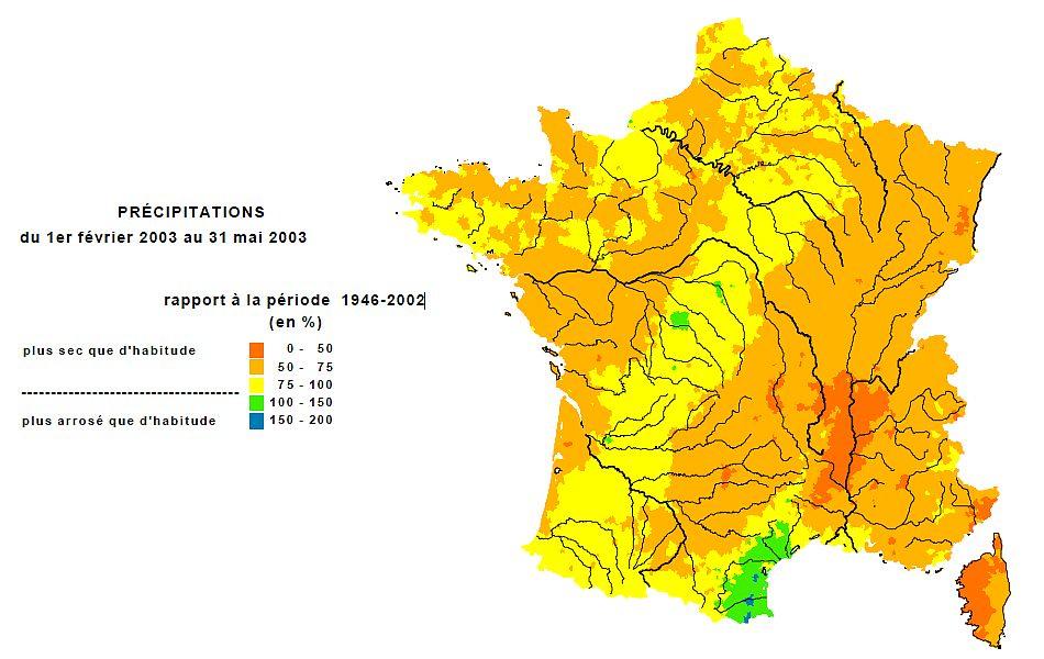 bilan des précipitations du printemps 2003 météopassion