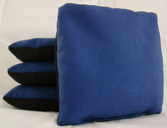 Blue & Black Suede Dual Sided Cornhole Bags