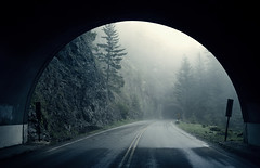 Tunnel (sparth) Tags: road leica june fog tunnel olympic peninsula brouillard hurricaneridge x1 2011 leicax1