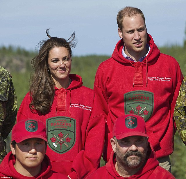 Two Royals in a boat Canoe-dling Kate and William wow Canada's Northwest Territories with their paddling partnership in a kayak  5