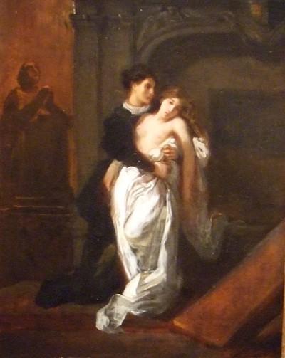 Roméo et Juliette au tombeau des capulet - Delacroix