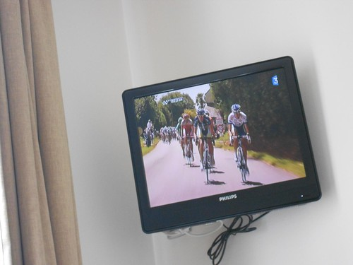 Tour de France in Hotel Room