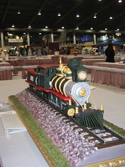 Locomotive Cake (Front View) (RDPJCakes) Tags: 3d fondant traincake sculptedcake ossas oklahomastatesugarartshow rdpjcakes locomotivecake
